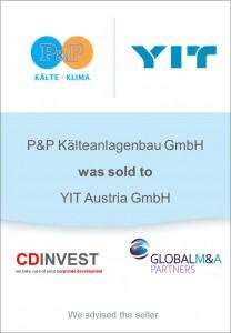 P&P Kälteanlagen YIT Unternehmensverkauf