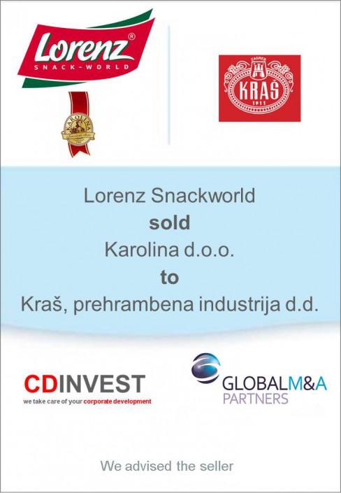 Lorenz Snackworld Karolina Unternehmensverkauf