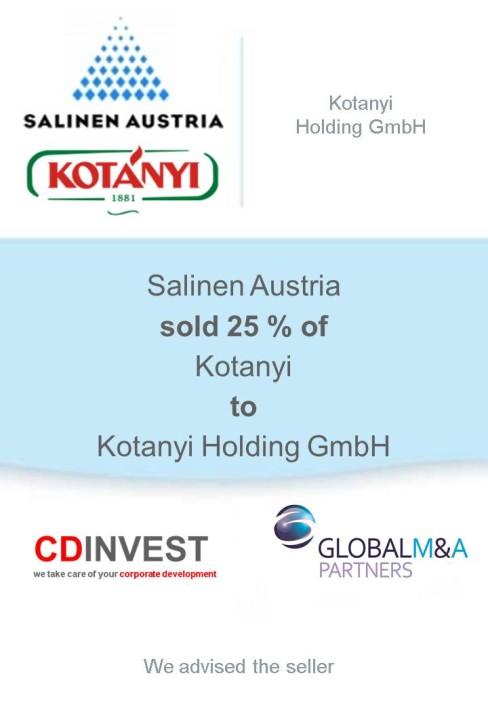 Salinen Austria Kotányi Unternehmensverkauf