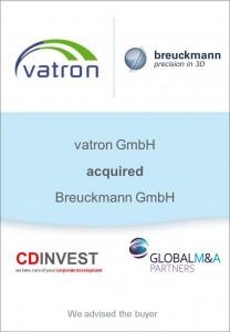 Vatron Breuckmann Unternehmenskauf