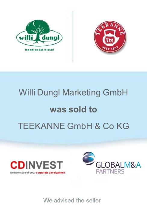 Willi Dungl Teekanne Unternehmensverkauf