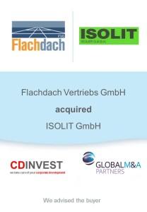 Flachdach Isolit Unternehmenskauf