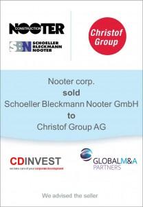 Nooter Christof Unternehmensverkauf