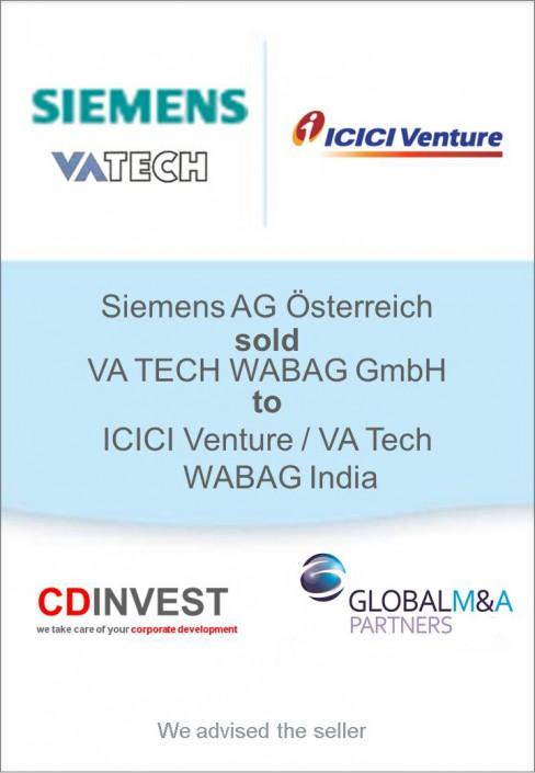 Siemens VA Tech ICIC Unternehmensverkauf