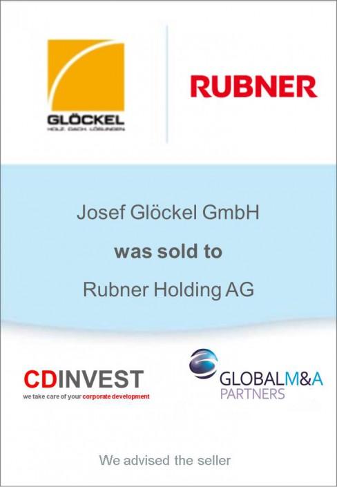 Glöckel Rubner Holding Unternehmensverkauf
