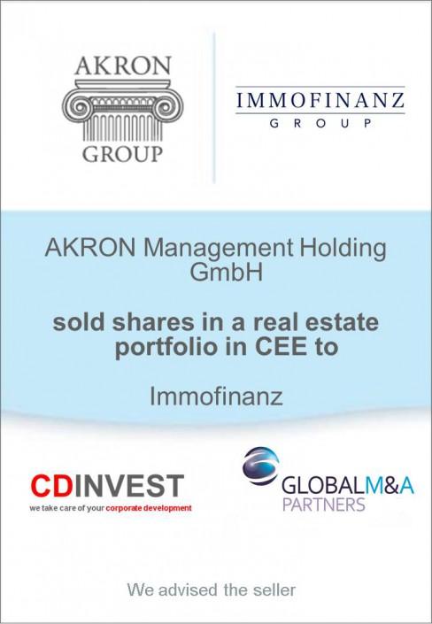 Akron Immofinanz Unternehmensverkauf