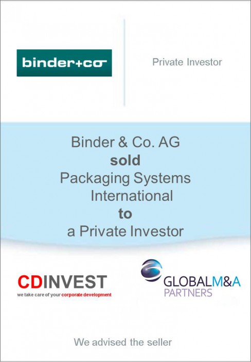 Binder Packaging Systems Unternehmensverkauf