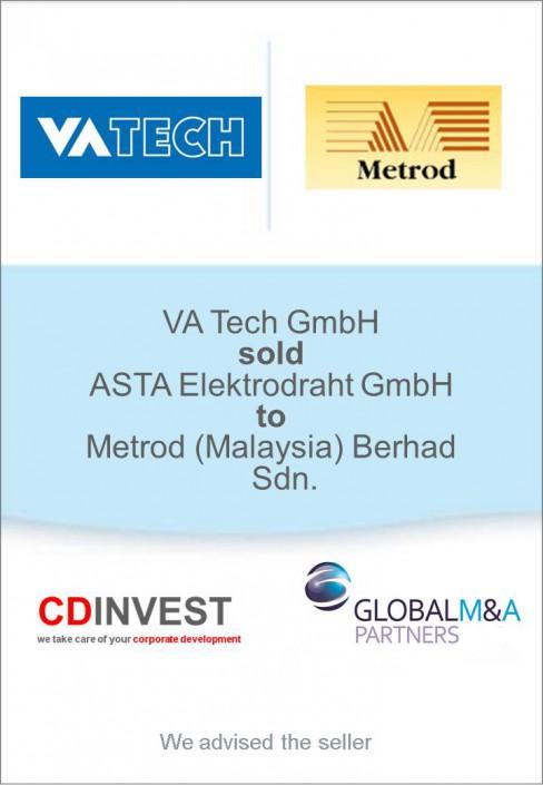 VA Tech ASTA Elektrodraht Unternehmensverkauf