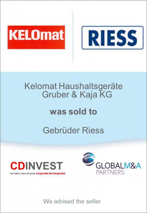 Kelomat Riess Unternehmensverkauf