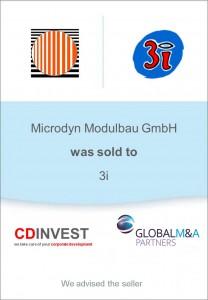 Microdyn 3i Unternehmensverkauf