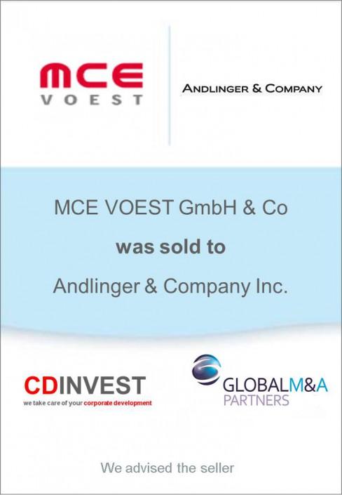 Voest Andinger Unternehmensverkauf