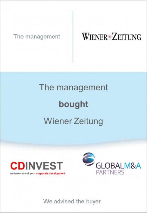 Wiener Zeitung Unternehmensverkauf
