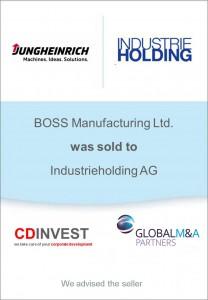Jungheinrich Industrieholding Unternehmensverkauf