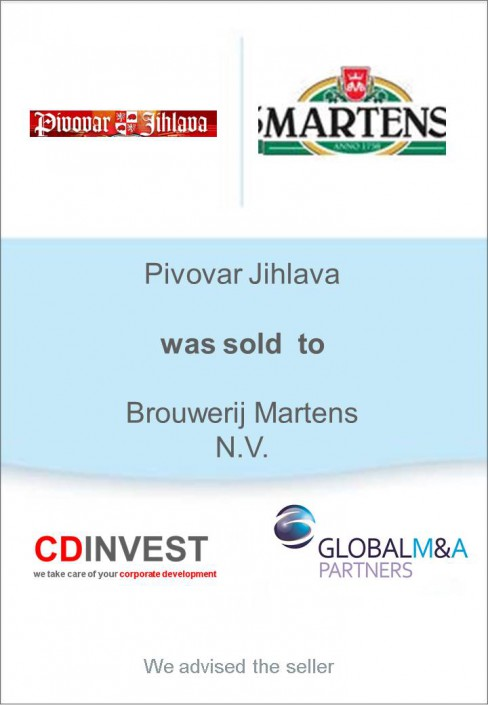 Pivovar Jihlava Unternehmensverkauf