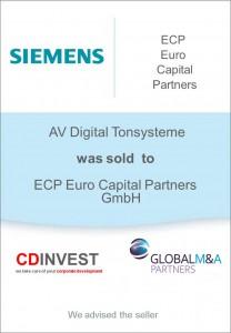 Siemens Tonsysteme Unternehmensverkauf