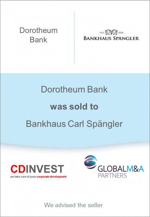 Dorotheum Bank Spängler Unternehmensverkauf