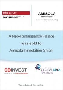 Amisola Immobilien Unternehmensverkauf