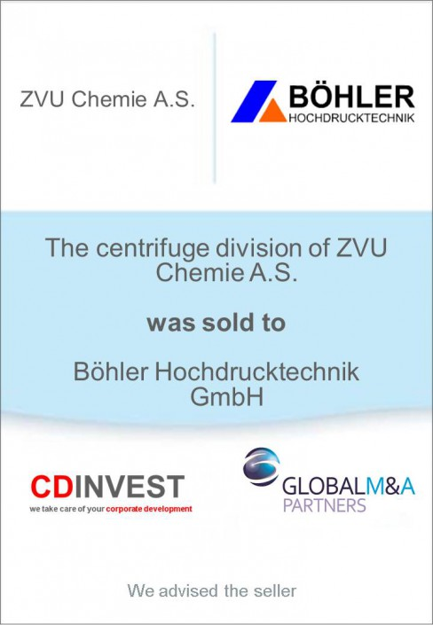 Böhler Hochdrucktechnik Unternehmensverkauf