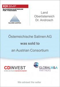 Salinen AG Unternehmensverkauf