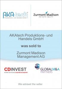 AKAtech Zumont Madson Unternehmensverkauf