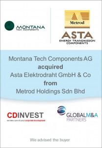 Montana Tech Astat Elektrodraht Unternehmenskauf