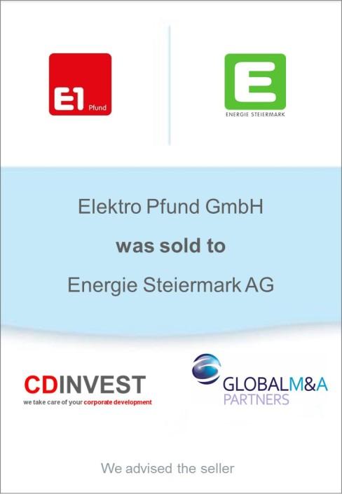 Elektro Pfund Unternehmensverkauf