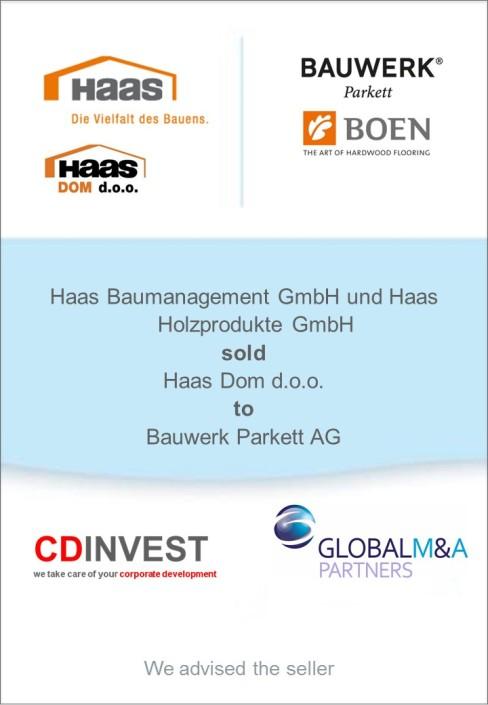 Haas Unternehmensverkauf