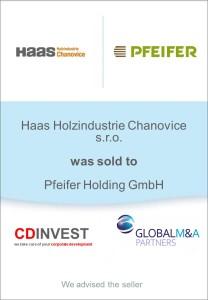 Haas Holzindustrie Unternehmensverkauf