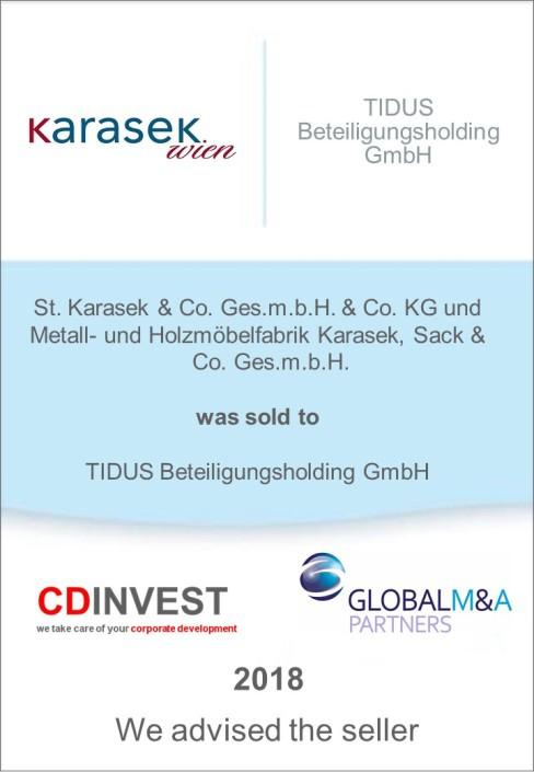 Karasek Unternehmensverkauf
