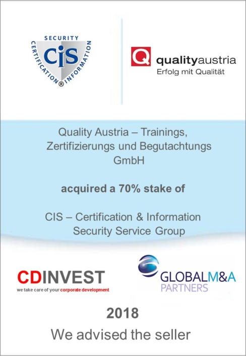 Quality Austria Akquisition